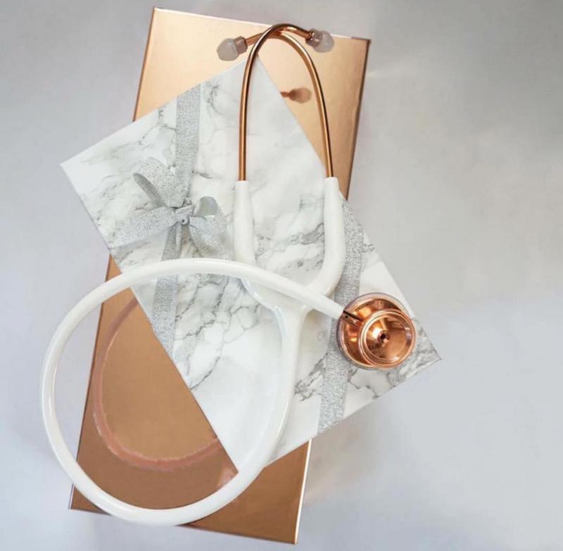Rose Gold/White